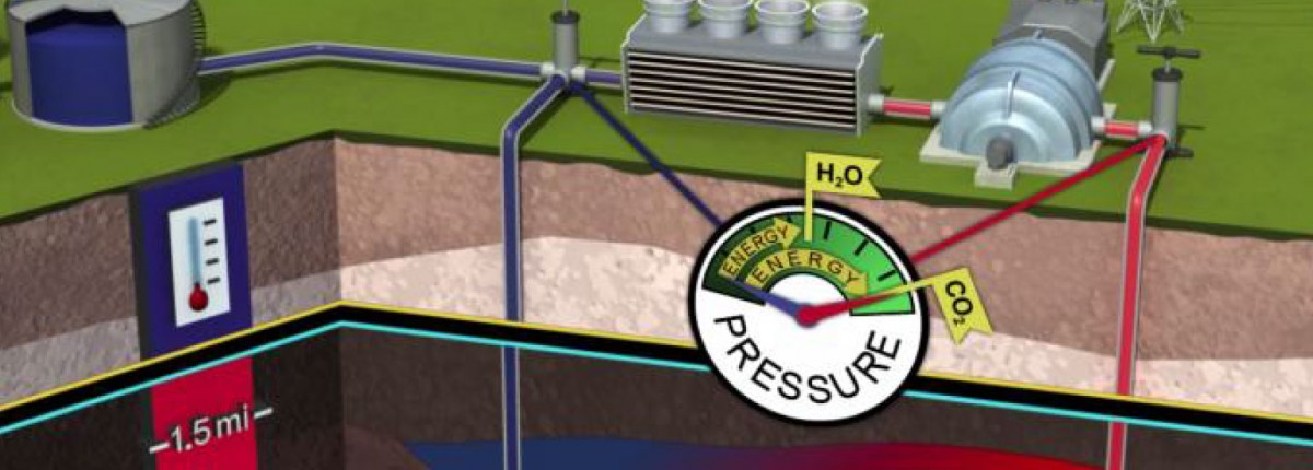 diagram of geothermal power plant cycle