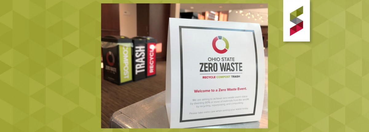 Zero Waste sign on a table