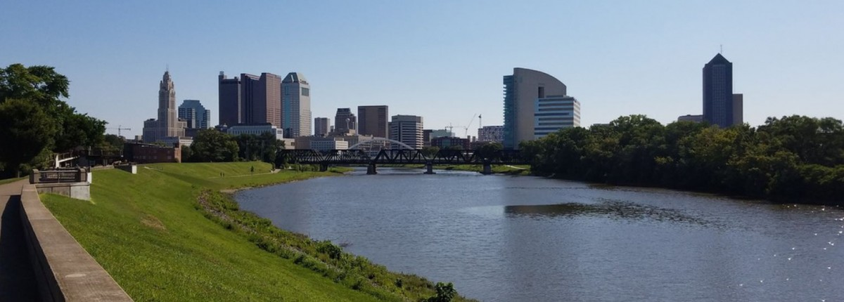 Skyline view of downtown Columbus, OH