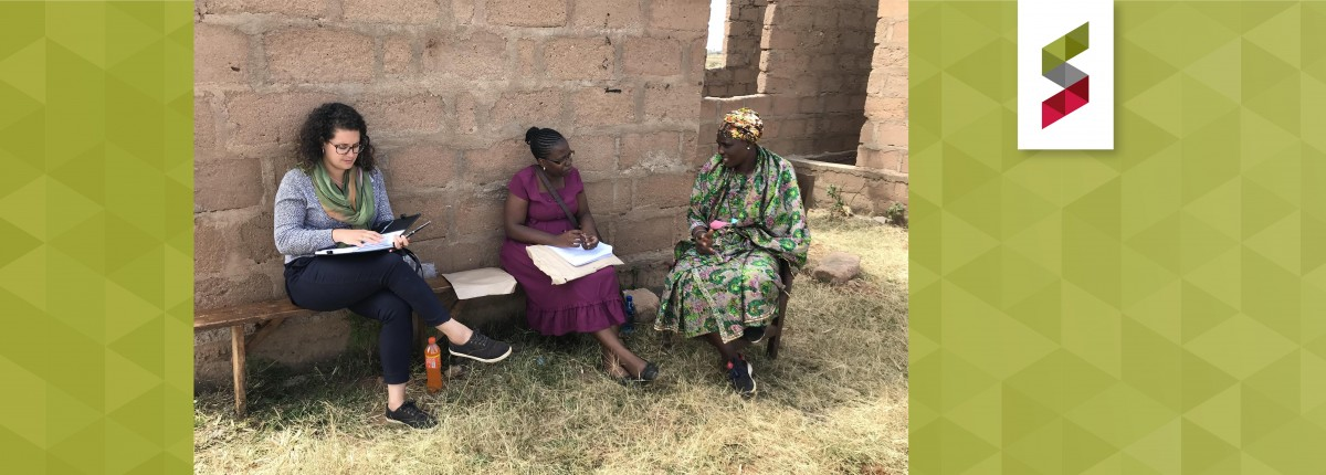Mary Rodriguez meets with community members in Tanzania