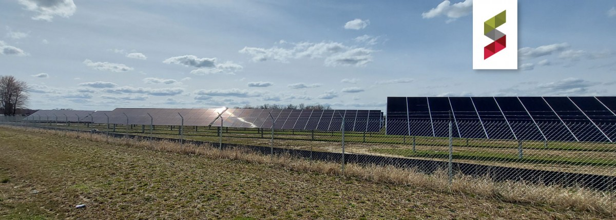 Panorama of solar farm